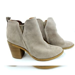 Dolcetta Heeled Ankle Boots Slip On Tan 9.5